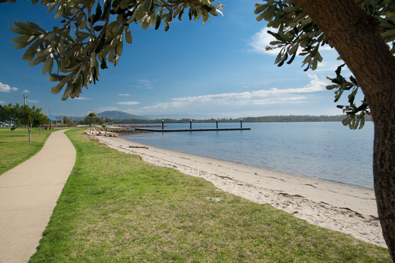 Titania Park Greenwell Point walkway by the river