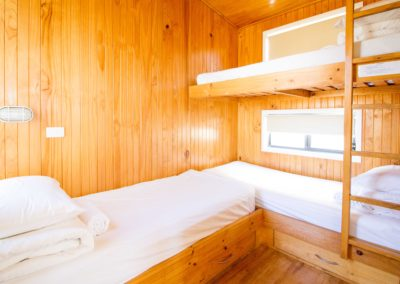 Two Bedroom Waterfront Holiday Cabin Second Bunk Bedroom