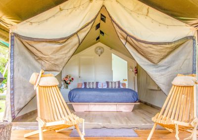 Safari Tent deck and king bed