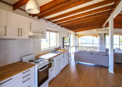 Full kitchen with waterviews